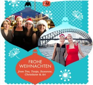 Merry Christmas from Tea, Tanja, Susanne, Christiane, Ari & the 2M Team
