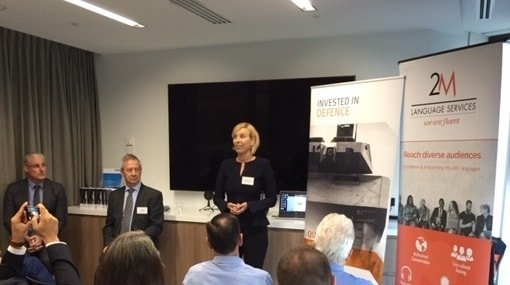 Tea speaking Defence Industry event