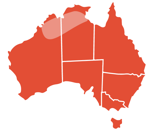 Australian Kriol language map