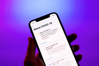 Plain English COVID-19 update on iPhone